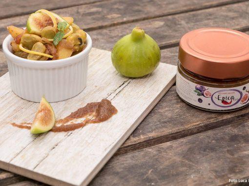 Terrina di fave e patate con menta, limone e zenzero con Epica Fico