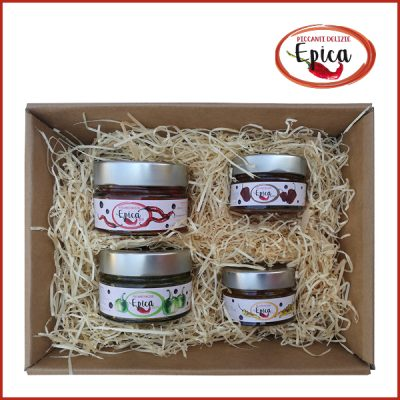 confezione regalo marmellate di peperoncino epica 2x125+2x50 mix