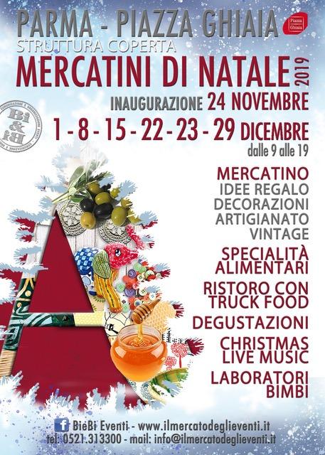 Mercatini di Natale - 15 - 22- 23 dicembre 2019 (Parma) volantino