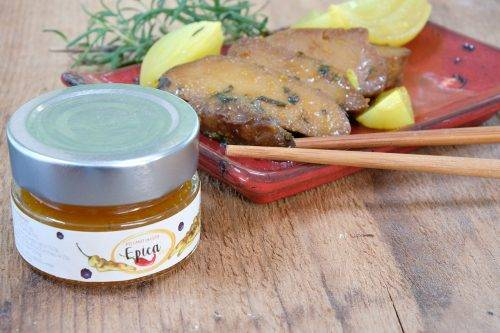 brasato seitan marinato con marmellata di peperoncino epica gold