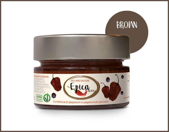 EPICA BROWN marmellata di peperoncini habanero chocolate