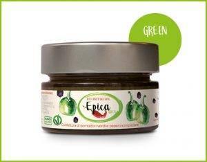 EPICA GREEN marmellata di pomodori San Marzano e peperoncini ciliegino