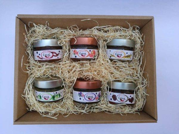 confezione regalo marmellate di peperoncino 6x125